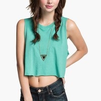 Project Social T Shredded Crop Muscle Tee (Juniors)   Nordstrom
