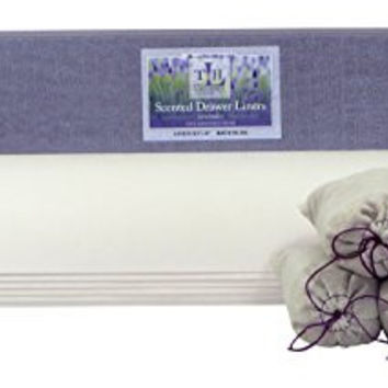 Lavender Scented White Embossed Drawer Liner Paper from The Lavender Home with 5 Household Essentials Cedar & Lavender Dresser Sachets