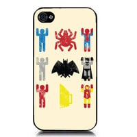 Superheroes Batman Iron Man Spiderman  iphone Case by GoldPrinter