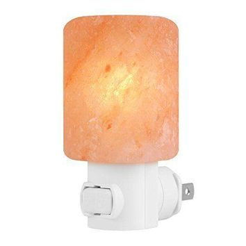 Himalayan Salt Night Light Natural Crystal Lamp Asthma Air Purifier Dust Police
