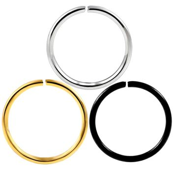 10pcs/lot 20g Stainless Steel Fashion Gold Silver Plated Fake Nose Ring Hoop Nose Stud Rings Body Piercing Jewelry For Women