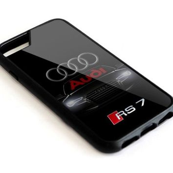 Audi Logo S RS 7 Black Logo For iPhone 6 6s 7 8 X plus Hard Protect Case