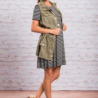 Cabin In The Woods Vest, Olive