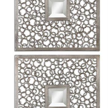 Colusa Squares Silver Mirror Set 2 By Uttermost