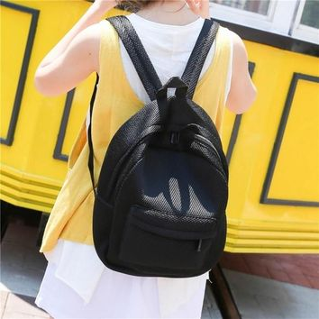 New Unisex Backpack Mesh Solid Soft School Bag Casual Outdoor Fashion Rucksack