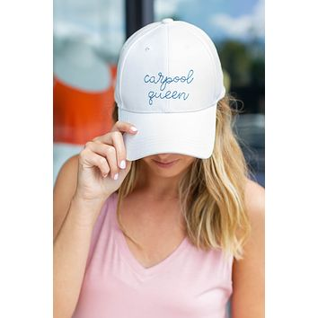 Carpool Queen Embroidery Hat
