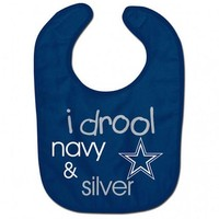 Dallas Cowboys I drool NFL Baby Bib Infant Toddler Newborn Baby Shower