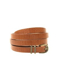 ASOS Metal Keeper Super Skinny Waist Belt - Tan