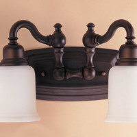 "0-034455>5""w Canterbury Oil Rubbed Bronze 2-Light Vanity"