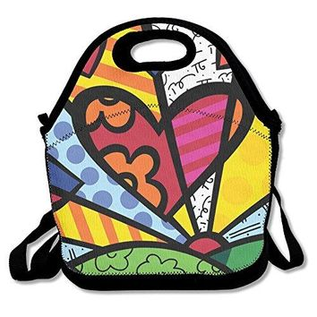 TuJa Day Romero Britto Lunch Box Bag For Women, Adults, Kids, Girls, And Teen Girls