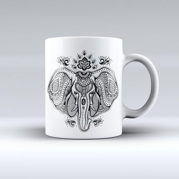 The Vector Sacred Elephant ink-Fuzed Ceramic Coffee Mug