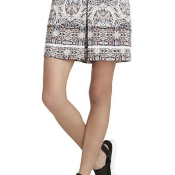 Trim Pull-On Short in Blue/Pink/Tan - BCBGeneration