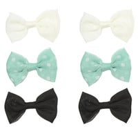 6 Dot Bow Clips | Shop Accessories at Wet Seal