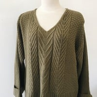 Remi Chunky Knit Sweater- olive