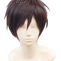 Free Hair Cap+ For Adults For Kids Attack on Titan Eren Jaeger Cosplay Wig Short Brown Wigs Cosplay Convention Cosplay Event Costume Hair
