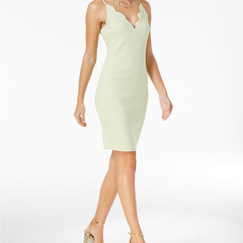 GUESS Salina Scallop-Detail Bodycon Dress | macys.com