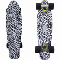 Fish Skateboard Zebra Animal Print Banana Bantam Retro Plastic Cruiser Penny