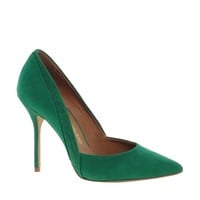 River Island Green Odette Pointed Court Shoes at asos.com