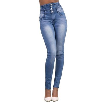 High Waist Denim Skinny Jean