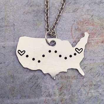 No Matter Where Necklace - Pinky Promise Jewelry - Best Friends Forever Jewelry - Sister Jewelry - Compass - Long Distance Jewelry - Home