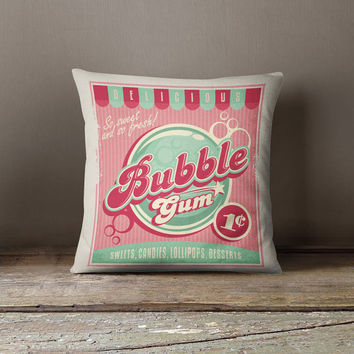 Candy Pillow | Candy Cushion | Candy Gifts for her | Pink Pillows | Candy Decorations | Vintage Decor  | Candy Art | Decor Pillows