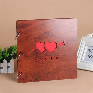 12 Inch DIY photo album loose-leaf book bronze card circle key ring card buckle scrapbooking paper scrapbook album for wedding