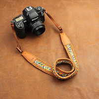 DSLR Leather Camera Strap - Nikon Camera Strap - Canon Camera Strap