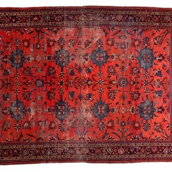 8.5x11.5 Distressed Vintage Mahal Carpet