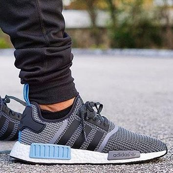 Sale Adidas NMD R1 Core Grey Blue City Pack \