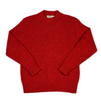 Vintage 1980s L.L.Bean Red Wool Sweater Made in USA Mens Size Medium