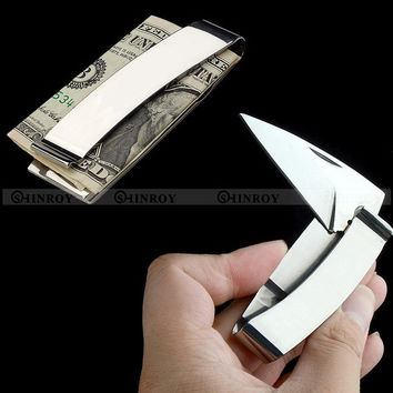 EDC Camping Wallet Money Clip knife folding knife outdoor multifunctional portable gift knife Free Shipping