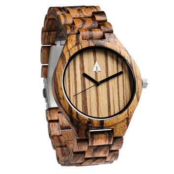 All Wood Watch // All Zebrawood 47