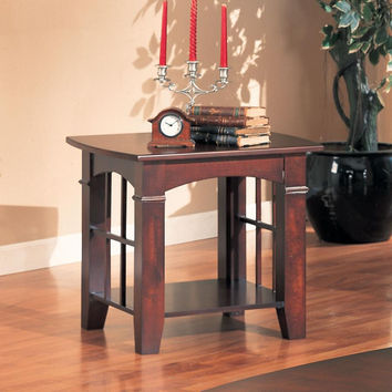 Coaster Fine Furniture End Table Cherry 700007
