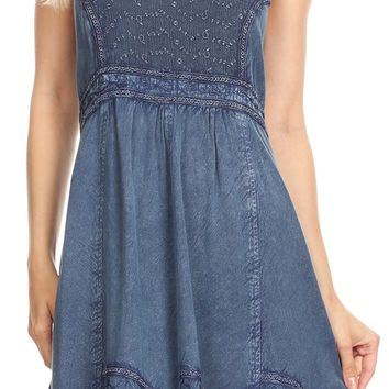 Sakkas Mandi Womens Summer Casual Bohemian Sundress Sleeveless Short Mini Dress