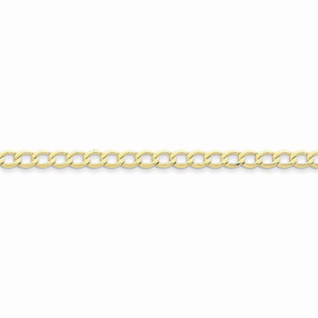 10k Yellow Gold 5.25MSemi Solid Curb Link Bracelet