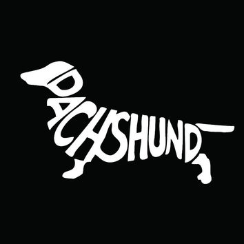 Dachshund Vinyl Decal Car Sticker