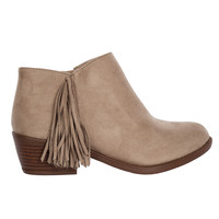 Mia Fringe Ankle Booties-FINAL SALE