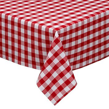Red and White Check Table Cloth