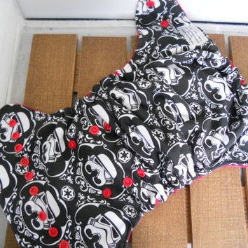 Starwars inspired demask print cloth diaper! Demask print cloth diaper! Hybrid cloth diaper! All in one diaper! Pocket diaper! Diaper covers