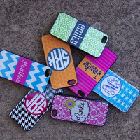 Personalized Monogrammed Iphone 5 Case - Stripes