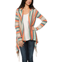 Rip Curl Driftwood Beige Hooded Cardigan Sweater