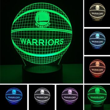 3D LED Realistic Basketball Lamp With 7 Changeable Colors