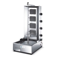 Shawarma Machine - Gas, 4 Burners, 18 KW/H, Kebab Diamter: 400 Mm, 3.6 RPM, TT-WE1402C