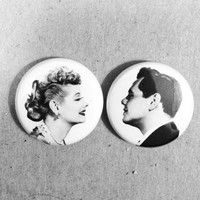 "lucy and desi ""i love lucy"" pin set."