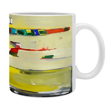 Robin Faye Gates Abstract Yellow Coffee Mug