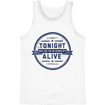 Tonight Alive Men's  Crest Mens Tank White Rockabilia