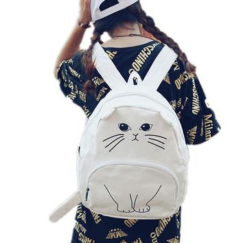 Japanese Anime Bag 3D Cat Printing Backpack for Teenagers Japanese  Canvas Women Backpacks Female School Bag Cartoon Casual Mochila Feminina AT_59_4