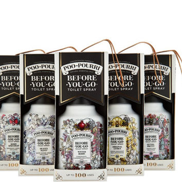 Poo-Pourri Set of 5 2oz. Bathroom Deodorizers in Gift Boxes — QVC.com