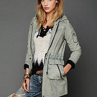Free People Clothing Boutique > Hooded Leather Jacket