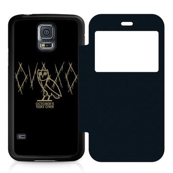 Ovoxo October Very Own Leather Wallet Flip Case Samsung Galaxy S5